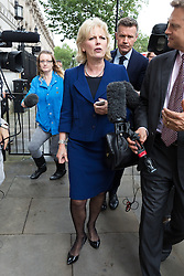© Licensed to London News Pictures. 27/06/2016. LONDON, UK.  ANNA SOUBRY leaves after a cabinet meeting at 10 Downing Street this morning.  Photo credit: Vickie Flores/LNP