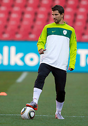 Dalibor Stevanovic of Slovenia warm up during training session at Ellis Park on June 17, 2010 in Johannesburg, South Africa. Slovenia will play their next FIFA World Cup Group C match against USA at Ellis Park in on Friday June 18, 2010, in Johannesburg, South Africa. (Photo by Vid Ponikvar / Sportida)