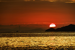October 8, 2016 - Shanwei, Shanwei, China - Shanwei, CHINA-October 3 2016:?(EDITORIAL?USE?ONLY.?CHINA?OUT) Sunset in Shanwei, south China¡¯s Guangdong Province, October 3rd, 2016. (Credit Image: © SIPA Asia via ZUMA Wire)