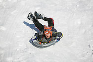 Brookline, MA 02/10/2013<br /> Thomas Hood, age 6, enjoys some sledding at Larz Anderson Park in Brookline on Sunday afternoon.