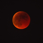 VENICE, ITALY - JUNE 15:  A blood red moon during the total eclipse is seen on June 15, 2011 in Venice, Italy. The longest lunar eclipse for a decade took place tonight, a lunar eclipse comes when the sun, Earth and moon line up and Earth's shadow falls on the moon