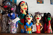 Shops in Santa Teresa selling hand made good by local artisans, Rio de Janeiro.