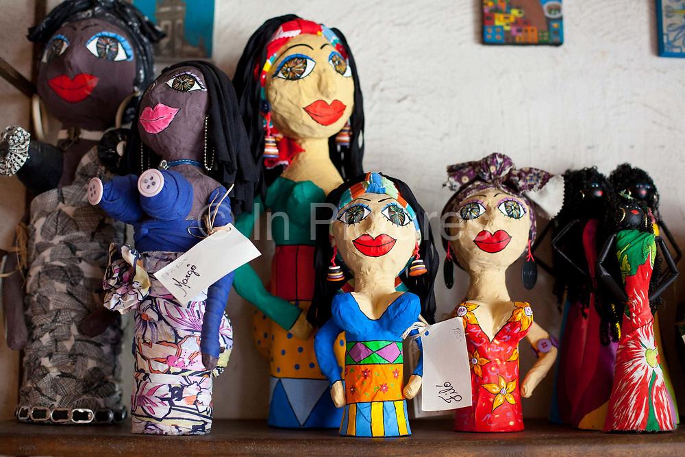 Shops in Santa Teresa selling hand made good by local artisans, Rio de Janeiro.