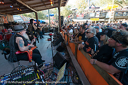 David Allan Coe's free concert pulled in a huge crowd at the Iron Horse Saloon during the Daytona Bike Week 75th Anniversary event. FL, USA. Sunday March 6, 2016.  Photography ©2016 Michael Lichter.