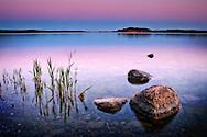 Sunset over Farstanäs archipelago in Järna in the mid-east of Sweden.