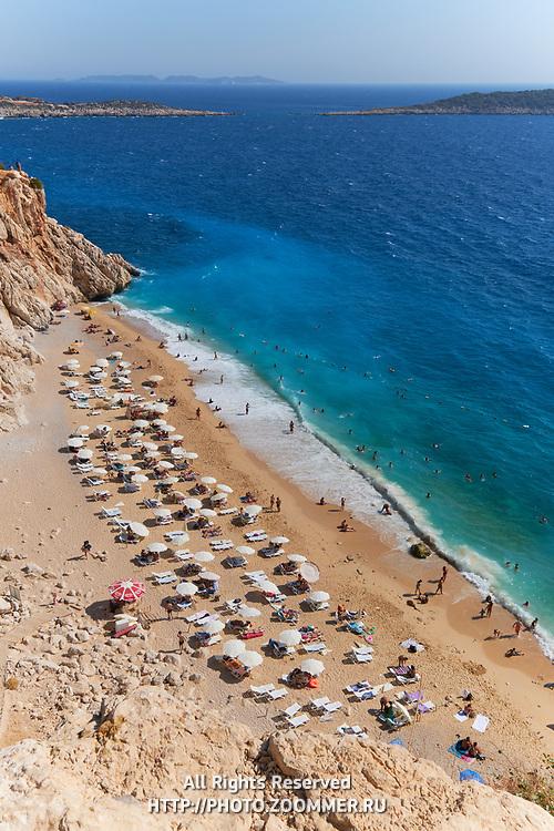 The number one beach in Turkey, Kaputas beach in turqouise coast