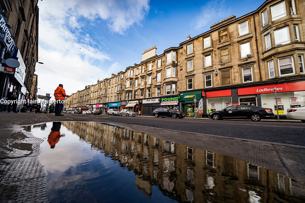 Glasgow, Scotland, UK. 7 October 2020. Time Out magazine has named Dennistoun in the East End of Glasgow as one of the world's coolest districts. Pictured;  View of Duke Street. Iain Masterton/Alamy Live News