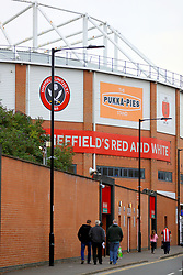 Fans arriving for the Carabao Cup, Second Round match at Bramall Lane, Sheffield.