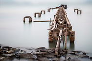 Long exposure of an abandoned jetty and sunken dinghy near Georgetown, Penang