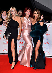 Dawn Ward, Lauren Simon and Tanya Bardsley (left-right) attending the National Television Awards 2018 held at the O2 Arena, London. PRESS ASSOCIATION Photo. Picture date: Tuesday January 23, 2018. See PA story SHOWBIZ NTAs. Photo credit should read: Matt Crossick/PA Wire