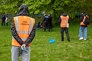 Legal observers were in attendance as 200 campaigners from different local groups came together today for a festival of solidarity with residents of Napier Barracks, a former military barracks that is being used as an assessment and dispersal facility for asylum seekers by the Home Office on the 21st of May 2021 in Folkestone, Kent, United Kingdom. (photo by Andrew Aitchison / In Pictures via Getty Images)