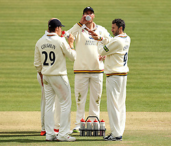 Durham's Graham Onions chats to his teammates while bringing out drinks - Photo mandatory by-line: Robbie Stephenson/JMP - Mobile: 07966 386802 - 03/05/2015 - SPORT - Football - London - Lords  - Middlesex CCC v Durham CCC - County Championship Division One