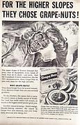 Mount Everest 1953 British first ascent advert - Grape nuts