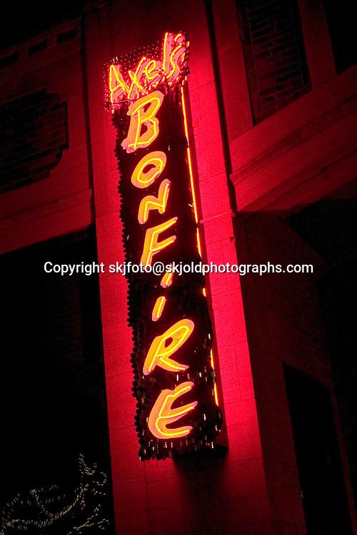 The very popular Axel's Bonfire bar and restaurant on Grand Avenue.  St Paul Minnesota USA