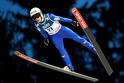 Poland, Zakopane - 2018 January 28: Timi Zajc from Slovenia soars through the air while 18th World Cup Competition Men's HS140 Large Hill Individual during FIS Ski Jumping World Cup Zakopane 2017/2018 - Day 3 at Wielka Krokiew jumping hill on January 28, 2018 in Zakopane, Poland.<br /> <br /> Mandatory credit:<br /> Photo by © Adam Nurkiewicz<br /> <br /> Adam Nurkiewicz declares that he has no rights to the image of people at the photographs of his authorship.<br /> <br /> Picture also available in RAW (NEF) or TIFF format on special request.<br /> <br /> Any editorial, commercial or promotional use requires written permission from the author of image.
