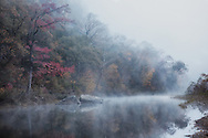 Early morning fog at Steel Creek on the Buffalo river.