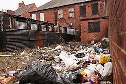 An area of social deprivation in Goldthorpe, South Yorkshire due to absent landlord tenacy agreements
