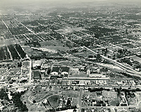 1941 Aerial of Republic Studios on Ventura Blvd. in Studio City