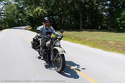 Randy Samz riding his 1942 Harley-Davidson WLA during the Cross Country Chase motorcycle endurance run from Sault Sainte Marie, MI to Key West, FL (for vintage bikes from 1930-1948). Stage 5 had riders cover 213 miles from Bowling Green, KY to Chatanooga, TN USA. Tuesday, September 10, 2019. Photography ©2019 Michael Lichter.