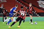 David Brooks (7) of AFC Bournemouth on the attack during the EFL Sky Bet Championship match between Bournemouth and Nottingham Forest at the Vitality Stadium, Bournemouth, England on 24 November 2020.