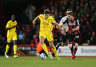 Liverpool midfielder Steven Gerrard during the Capital One Cup match between Bournemouth and Liverpool at the Goldsands Stadium, Bournemouth, England on 17 December 2014.