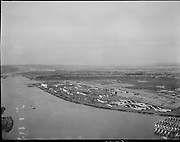 "Ackroyd 00509. ""Swan Island aerial. February 6, 1948"" (looking north)"
