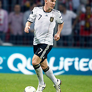 Germany's Bastian SCHWEINSTEIGER during their UEFA EURO 2012 Qualifying round Group A matchday 19 soccer match Turkey betwen Germany at TT Arena in Istanbul October 7, 2011. Photo by TURKPIX