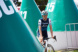 Ruth Winder (USA) weaves through the buoys to sign on at Deakin University Elite Women Cadel Evans Road Race 2019, a 113 km road race starting and finishing in Geelong, Australia on January 26, 2019. Photo by Sean Robinson/velofocus.com
