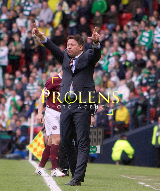 William Hill Scottish FA Cup Semi Final CELTIC FC v HEART OF MIDLOTHIAN FC Season 2011-12.15-04-12...Hearts Manager Paulo Sergio  during the William Hill Scottish FA Cup Semi Final tie between CELTIC FC and HEART OF MIDLOTHIAN FC with the Winner facing   in this years Scottish Cup Final in May...At Hampden Park Stadium , Glasgow..Sunday 15th April 2012.Picture Mark Davison/ Prolens Photo Agency / PLPA