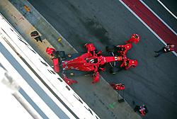 March 7, 2018 - Barcelona, Spain - the Ferrari of Sebastian Vettel during the Formula 1 tests at the Barcelona-Catalunya Circuit, on 07th March 2018 in Barcelona, Spain.  Photo: Joan Valls/Urbanandsport /NurPhoto. (Credit Image: © Joan Valls/NurPhoto via ZUMA Press)