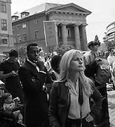 Manifestation på Mynttorget i Stockholm mot försämringar i asyllagen