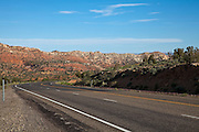 View of the Cockkscomb from US Route 89 in southern Utah