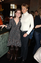 Left to right, DAHLIA DANA and LADY ALEXANDRA SPENCER-CHURCHILL at the 1st Baglioni Hotel's Designer Lunch featuring designs by Amanda Wakelel held at The Baglioni Hotel, 60 Hyde Park gate, London on 1st February 2006.<br />