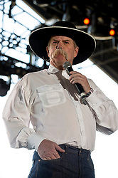 April 28, 2018 - Indio, CA, U.S. - INDIO, CA - APRIL 28:  Waddle Mitchell, the Cowboy Poet recites one of his poems at Stagecoach, California's Country Music Festival on April 28, 2018 at the Empire Polo Club in Indio, CA. (Photo by Tom Walko/Icon Sportswire) (Credit Image: © Tom Walko/Icon SMI via ZUMA Press)