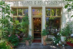 Flower shop exterior in Prenzlauer Berg Berlin Germany