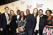 NEW YORK, NEW YORK-JUNE 4: (L-R) Peter W.Kunhardt, Jr., Executive Director, Gordon Parks Foundation, Author Vikkii Tobak, Curator Larry Ossei-Mensah, Author/Arts educator Sarah E. Lewis, Visual Artist Hank Thomas, Guest, Guest and Visual Artist Xaviera Simmons attend the 2019 Gordon Parks Foundation Awards Dinner and Auction Red Carpet celebrating the Arts & Social Justice held at Cipriani 42nd Street on June 4, 2019 in New York City.  (photo by terrence jennings/terrencejennings.com)