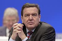 18 NOV 2003, BOCHUM/GERMANY:<br /> Gerhard Schroeder, SPD, Bundeskanzler, SPD Bundesparteitag, Ruhr-Congress-Zentrum<br /> IMAGE: 20031118-01-066<br /> KEYWORDS: Parteitag, party congress, SPD-Bundesparteitag, Gerhard Schröder
