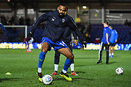 Wimbledon midfielder Liam Trotter (14)  warms-up ahead of the The FA Cup fourth round match between AFC Wimbledon and West Ham United at the Cherry Red Records Stadium, Kingston, England on 26 January 2019.
