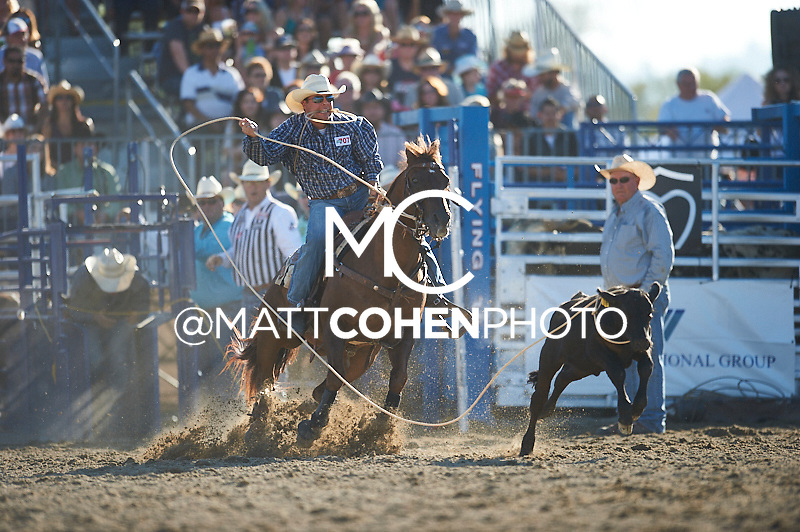Tie-down roper Randall Carlisle of Baton Rouge, LA competes at the Rancho Mission Viejo Rodeo in San Juan Capistrano, CA.<br /> <br /> <br /> UNEDITED LOW-RES PREVIEW<br /> <br /> <br /> File shown may be an unedited low resolution version used as a proof only. All prints are 100% guaranteed for quality. Sizes 8x10+ come with a version for personal social media. I am currently not selling downloads for commercial/brand use.