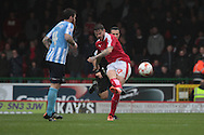 Swindon Town midfielder Ben Gladwin and Coventry City defender Romain Vincelot during the Sky Bet League 1 match between Swindon Town and Coventry City at the County Ground, Swindon, England on 24 October 2015. Photo by Jemma Phillips.