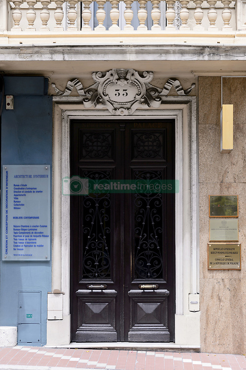 An outside view of the Polish consulate, in Monaco, on June 25, 2014. Police investigating the killing of Monaco heiress Helene Pastor last month have detained 23 people in France, including her daughter and son-in-law. Ms Pastor, from one of Monaco's richest families, was ambushed by a man armed with a shotgun as she left hospital in the French city of Nice in May. Her chauffeur also died of his wounds. Sylvia Pastor and her husband, Poland's honorary consul to Monaco Wojciech Janowski, were among those detained in Nice, Marseille and Rennes. Photo by Mike Bird/ABACAPRESS.COM  | 454291_007 Monaco Monaco