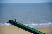 AF5GX0 Large groyne blocking longshore drift Walton on the Naze Essex England