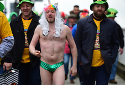 Fans arrive at Twickenham, London, ahead of the Six Nations rugby match between Ireland and England.