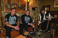 Fotball, jannuar 2003,, Brügge på treningsleir i Antalya Topkapi Palace, Tyrkia, med Bengt Sæternes, Rune Lange<br />Foto: Philippe Crochet, Digitalsport