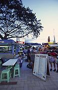 Food wagons (Roulettes), Papeete, Tahiti, French Polynesia<br />
