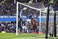 Oumar Niasse of Everton(c) scores his teams 2nd goal to make it 2-1.  Premier league match, Everton vs Bournemouth at Goodison Park in Liverpool, Merseyside on Saturday 23rd September 2017.<br /> pic by Chris Stading, Andrew Orchard sports photography.