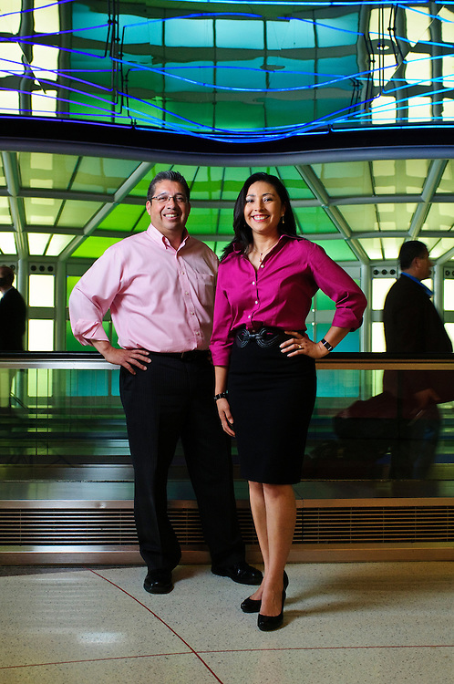 Spouses Alejandra and Gerry Alvarado are President and VP/Director of Business Development respectively of Geralex Janitorial Services. The company employs about 80 people, 50 of whom work at Chicago's O'Hare International Airport, a cleaning contract that Geralex has maintained since December. Thursday, June 27th. © 2013 ViaPhotos.com - Brian J. Morowczynski Photographer