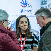 London, UK. 27th January, 2017. Visitors attend The France Show 2017 at Olympia London. All types of french life were on display at the France Show. Various food and drink companies had stands with samples for people to try and buy. Property companies had houses for sale. Credit: See Li.