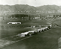 1920 Chaplin Airdrome in the foreground and Mercury Aviation in background at Wilshire Blvd. & Fairfax Ave.