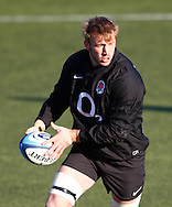 Picture by Andrew Tobin/Focus Images Ltd. 07710 761829.. 2/2/12. Chris Robshaw in action during the England team training session held for the first time at Surrey Sports Park, Guildford, UK, before their 6-Nations game against Scotland